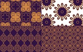 Картинка цветы, фон, узор, текстура, коричневый, орнамент