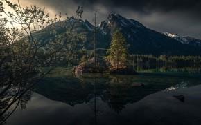 Картинка горы, природа, озеро, весна, Германия