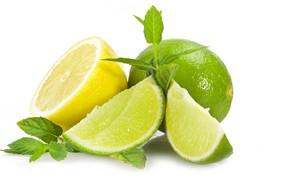Картинка лимон, лайм, цитрус