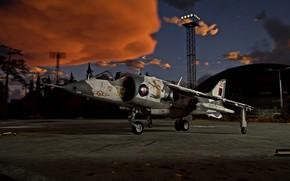 Картинка самолет, Британия, War Thunder, Harrier GR.1