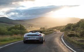 Картинка Закат, Дорога, Porsche, Spyder, Porsche 718, 2019, Porsche 718 ( 982 ) Spyder