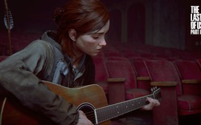 Картинка Games, Guitar, Naughty Dog, Ellie, PS4, The Last of Us Part II