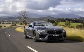 Картинка серый, купе, BMW, на дороге, 2020, BMW M8, M8, M8 Competition Coupe, M8 Coupe, F92, …