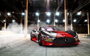 Обои Mercedes-Benz, Авто, Машина, Mercedes Benz, AMG, Рендеринг, Concept Art, Передок, Спорткар, Gran Turismo, Transport & ...