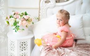 Картинка цветы, Девочка, фотограф Константин Буркин