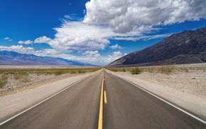Картинка дорога, облака, горы