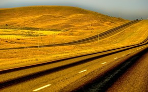 Картинка дорога, небо, природа