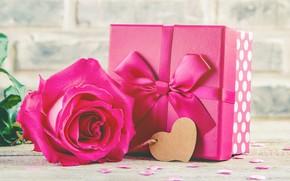 Картинка любовь, подарок, сердце, розы, букет, love, розовые, heart, pink, flowers, romantic, valentine's day, roses, gift …