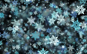 Картинка зима, снег, снежинки, темный фон, праздник, узор, вектор, текстура, Рождество, Новый год, снегопад, много, снежинка, …