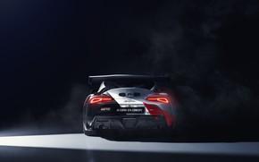 Картинка машина, купе, concept, фонари, спорткар, Toyota, GT4, GR Supra