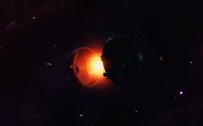 Картинка Планета, Космос, Планеты, Planets, Арт, Space, Art, Planet, Фантастика, Fiction, Core, Sphere, Environments, Ядро, Dyson …