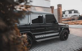 Картинка Mercedes-Benz, mercedes, black, amg, G-Class, Geländewagen, gelandevagen, g63amg, gclass
