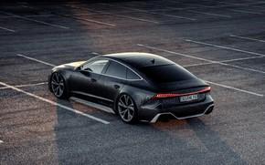 Картинка Audi, чёрный, стоянка, RS 7, 2020, V8 Biturbo, RS7 Sportback, 4.0 л., 962 л.с., HGP …