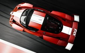 Картинка Красный, Авто, Машина, Car, Автомобиль, Art, Вид сверху, Суперкар, Спорткар, Vehicles, Gran Turismo 6, Sarathonux …