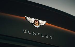 Картинка купе, Bentley, эмблема, 2019, Continental GT V8
