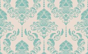 Картинка фон, голубой, текстура, орнамент, style, винтаж, pattern, victorian