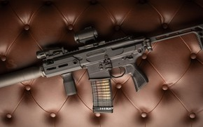 Обои оружие, винтовка, weapon, глушитель, custom, м16, ar-15, assault rifle, m16, assault Rifle, ар-15, silenser, ар ...