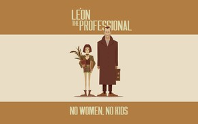 Картинка Минимализм, Рисунок, Арт, Art, illustration, Cristhian Hova, by Cristhian Hova, Leon The Professional, No Women …