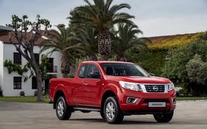Картинка красный, Nissan, пикап, Navara, 2019, King Cab