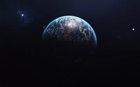 Картинка Звезды, Планета, Космос, Space, Planet, Пространство, Austin Roberts, Celestial body, by Austin Roberts
