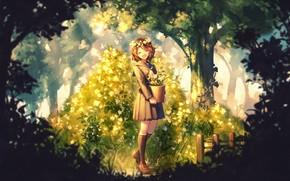 Картинка лес, девушка, Когда Плачут Чайки, Sayo Yasuda