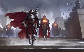 Картинка огонь, солдаты, предводитель, Legends of Runeterra