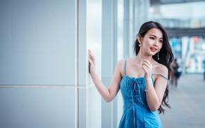 Картинка девушка, поза, азиатка, милашка