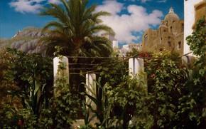 Картинка Капри, 1859, Сад отеля, Фредерик Лейтон