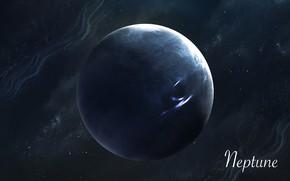 Картинка Звезды, Планета, Космос, Нептун, Арт, Stars, Space, Art, Planet, Universe, Galaxy, Система, Neptune, Science Fiction, …