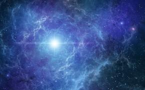 Картинка space, wallpaper, nebula, glare, flash, bright, shine