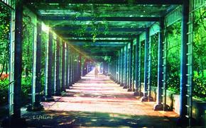 Картинка девушка, природа, коридор, by Lifeline