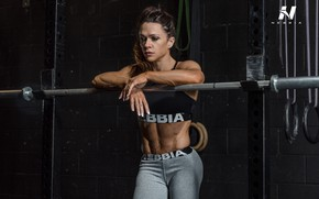 Картинка muscles, brunette, pose, workout, fitness
