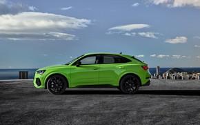 Картинка Audi, вид сбоку, кроссовер, Sportback, 2020, RS Q3