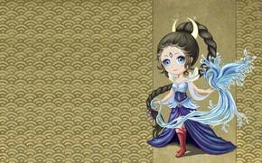Картинка вода, магия, арт, птичка, принцесса, детская, https://www.artstation.com/fiona_white, Swan - Princess