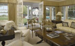 Картинка гостиная, интерьер, комната