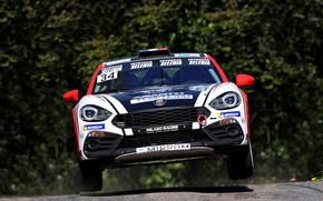 Картинка скорость, ралли, взлёт, 2018, Abarth, 124 Rally