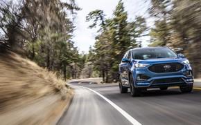 Картинка дорога, скорость, Ford, Edge, кроссовер, 2019, Edge ST