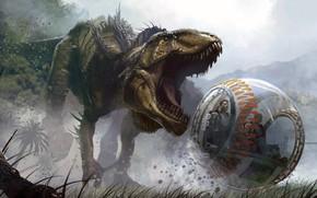 Картинка динозавр, Парк Юрского периода, Jurassic World, гиросфера