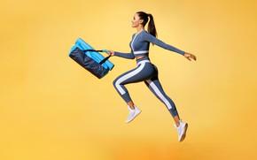 Картинка leggings, running girl, fitness body, activewear, sports Fashion