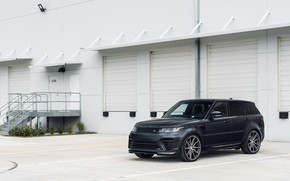 Картинка Land Rover, Range Rover, Sport, Gray, Vossen, Urban Automotive