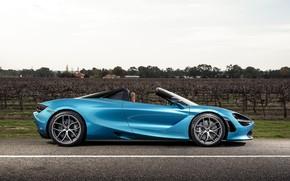 Картинка McLaren, суперкар, вид сбоку, Spider, 720S, 2019