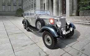 Картинка Германия, автомобиль, Внедорожник, Mercedes- Benz, W31, Третий Рейх, руководства Германии, для высшего, G4