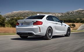 Картинка растительность, купе, BMW, вид сзади, 2018, F87, M2, M2 Competition