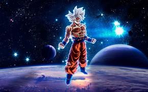 Картинка космос, парень, Dragon Ball, Драконий жемчуг