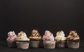 Картинка шоколад, black, cake, party, крем, десерт, food, cup, chocolate, sweet, кексы, dessert, bakery, cupcakes, Cream