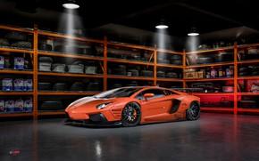 Картинка Lamborghini, tuning, garage, Aventador, Liberty Walk, LB Performance