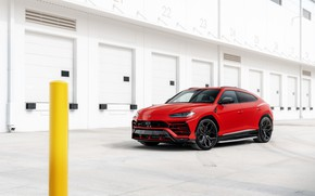 Картинка Lamborghini, RED, Urus, Vossen, VAG