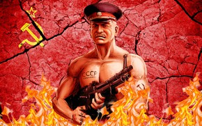 Картинка Пулемет, СССР, Иосиф Сталин, Фуражка, Вождь Коммунизма