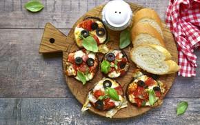 Картинка еда, баклажаны, доска, базилик, разделочная