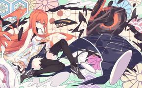 Картинка девушка, аниме, веер, арт